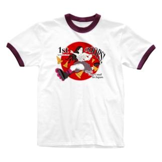 春一番! Ringer T-shirts