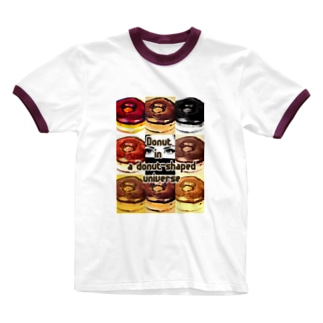 Donut in a donut-shaped universe Ringer T-shirts