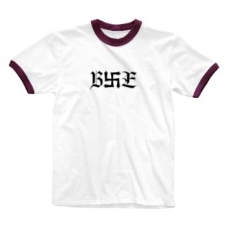B卍Eデザイン 黒 Ringer T-shirts