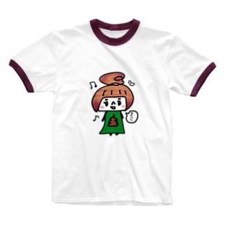 うんこちゃん Ringer T-shirts