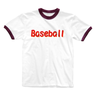 アメリカンベースの野球 Baseball Ringer T-shirts