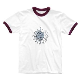 太陽と月 Ringer T-shirts