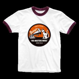 音楽酒場 ブギのブギねこ Ringer T-shirts