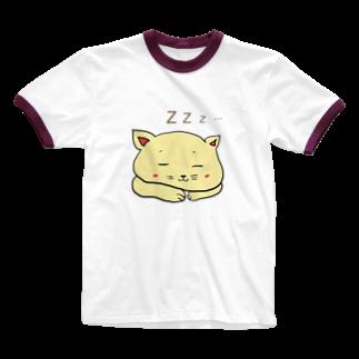 ぺけ丸の寝ぬっこ Ringer T-shirts