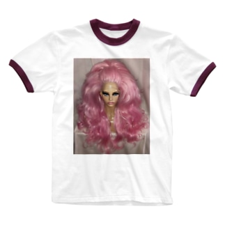 DRAG wigs Ringer T-shirts