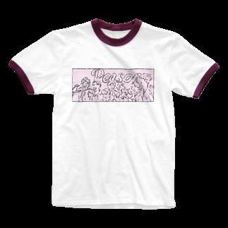 mksnのBTS PERSONA BWL Ringer T-shirts