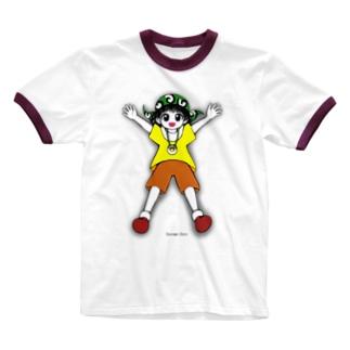 ユウキ「抱き枕にして良いですよ!」 Ringer T-shirts
