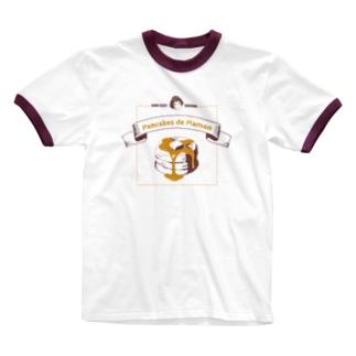 ママンのパンケーキ Ringer T-shirts