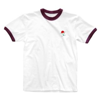 逆から見たらあっかんべー Ringer T-shirts