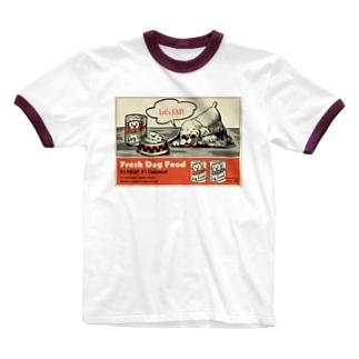 ドッグフード広告 Ringer T-shirts