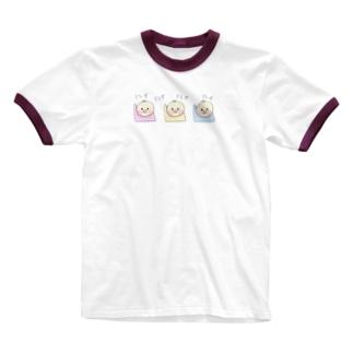 赤ちゃんハイハイ競争 Ringer T-shirts