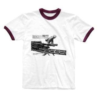 そりを引く(パズル) Ringer T-shirts
