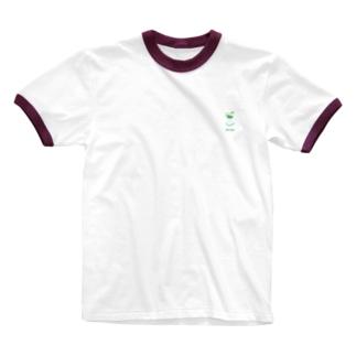 芽がでた豆 Ringer T-shirts