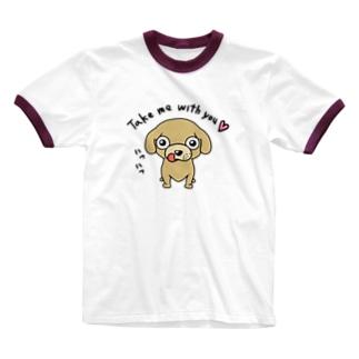 ミリススタイルのTake me with you!! Ringer T-shirts