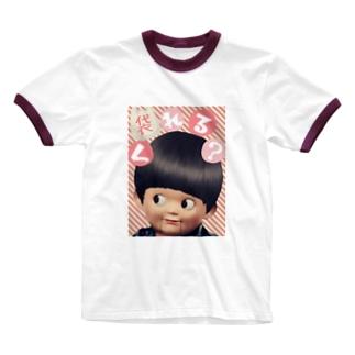 みにゃ次郎のレジ袋要ります! Ringer T-shirts