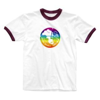 ハワイ大好き!カネオヘのラカ  Ringer T-shirts