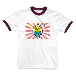 ひよこの祈り② Ringer T-shirts