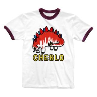 ザウリ赤白 Ringer T-shirts