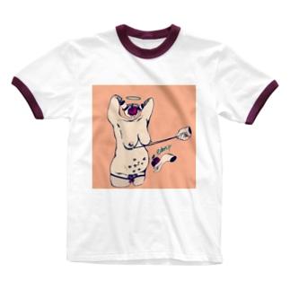 調教されたがり Ringer T-shirts