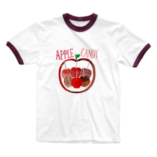 APPLE CANDY Ringer T-shirts