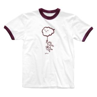 くものながれるままりょこう。 Ringer T-shirts