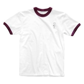 サッカーボールと少年(x) Ringer T-shirts