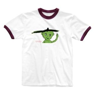 小学2年生はーさんが描いた「KAPPA」 Ringer T-shirts