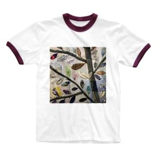 葉っぱ Ringer T-shirts