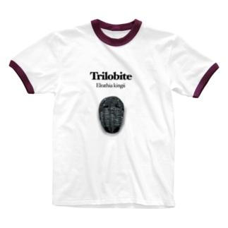 三葉虫エルラシア Ringer T-shirts