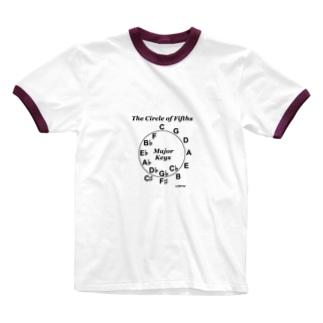 【音楽理論】サークル・オブ・フィフス - Ver.02 Ringer T-shirts