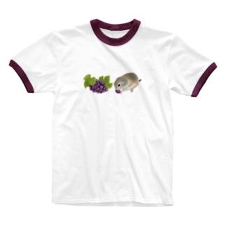 リチャードソンジリス・grape Ringer T-Shirt