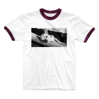 モノクロチワワ(アンニュイ2) Ringer T-shirts