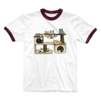 キャットタワー Ringer T-Shirt