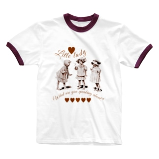 girls' talk Ringer T-shirts