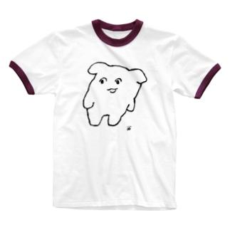 よよ(しろ) Ringer T-shirts