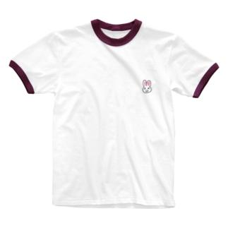 まちがいうさぎ Ringer T-shirts