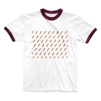 イテカサンチのチンドンパターン Ringer T-shirts