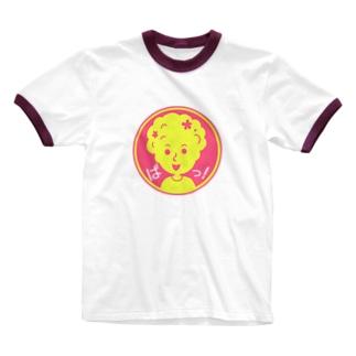 ぱっ!【丸型ツートンカラー】 Ringer T-shirts