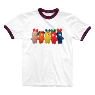 ピュンだらけ!カラフル Ringer T-shirts