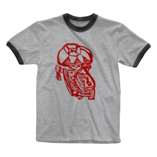 赤花の記憶 Ringer T-shirts