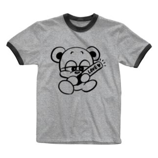 推しクマくん Ringer T-shirts