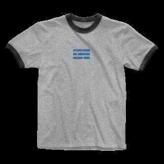 -ishのI was born on...blue Ringer T-shirts