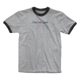 かわいい CRAYON LAND Ringer T-shirts
