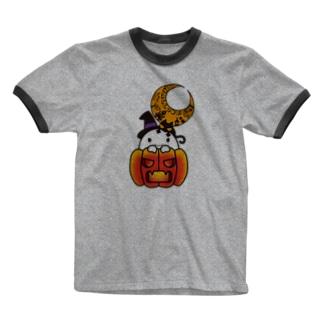 カボチャ畑のふわりん Pumpkin Ringer T-shirts