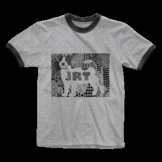 12.dozen(@jrt)の線の中にジャックが見える! Ringer T-shirts