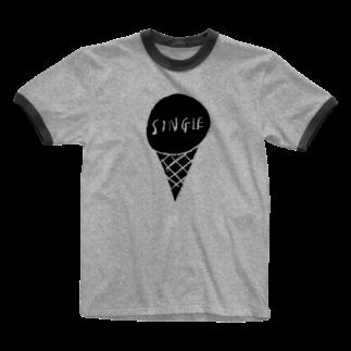 mappoのSINGLE(BLACK) Ringer T-shirts