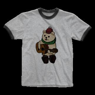 TACAのグッズ売り場の冬のくまさんver2 Ringer T-shirts