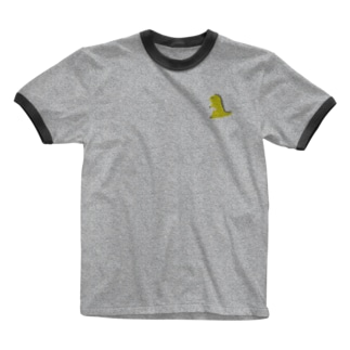 namunamuのドット恐竜 1匹 黄色 イエロー Ringer T-shirts