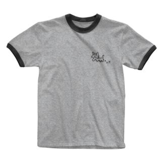 さんぽねこ Ringer T-shirts