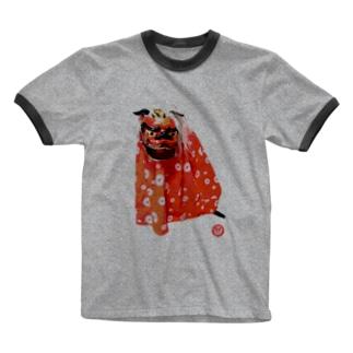 獅子舞GONちゃん Ringer T-shirts